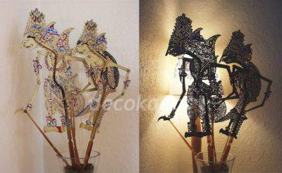 Jouer avec l'ombre et silhouette Rama et Sinta Marionnette d'ombre